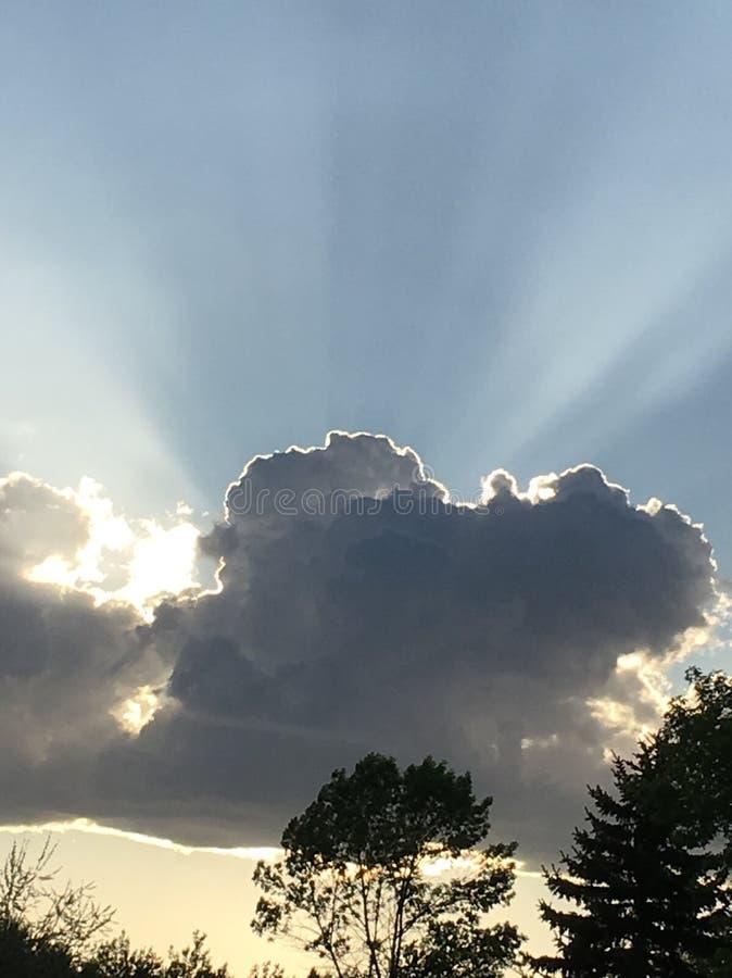 North Dakota sky's royaltyfri foto