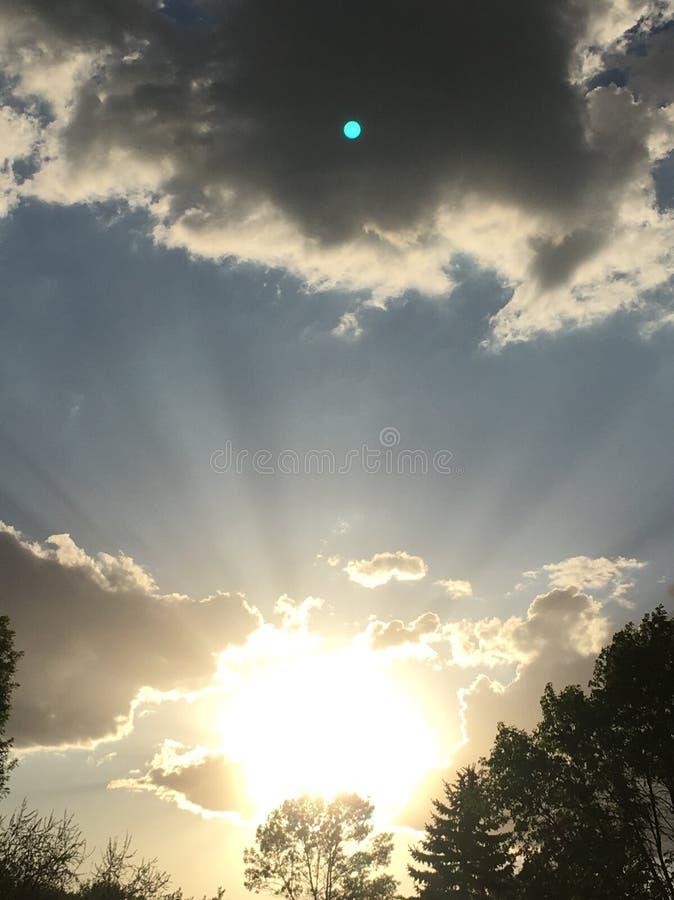 North Dakota sky's royaltyfria foton