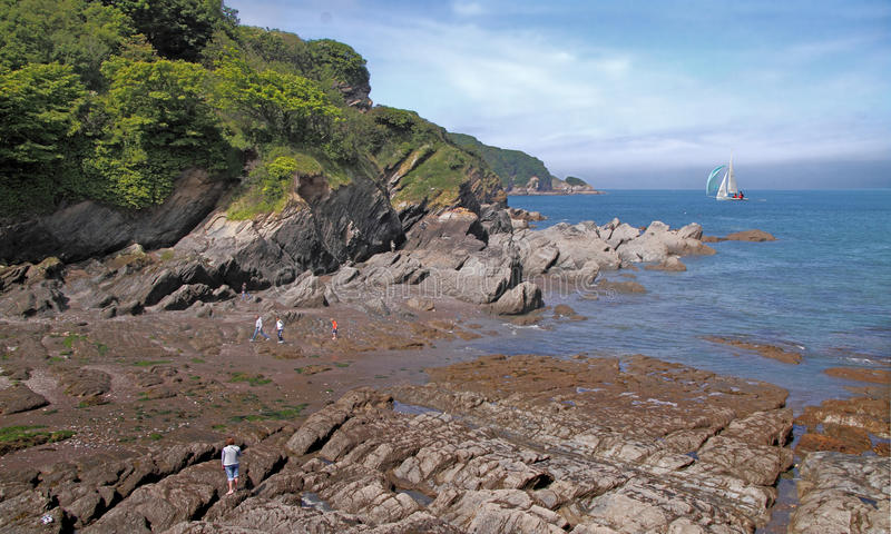 North Devon Coast. The beautiful coast of North Devon in England royalty free stock photography
