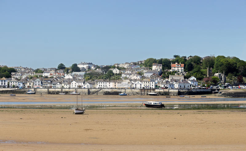North Devon seaside town of Appledore viewed from Instow. North Devon estuary on the River Torrington royalty free stock images
