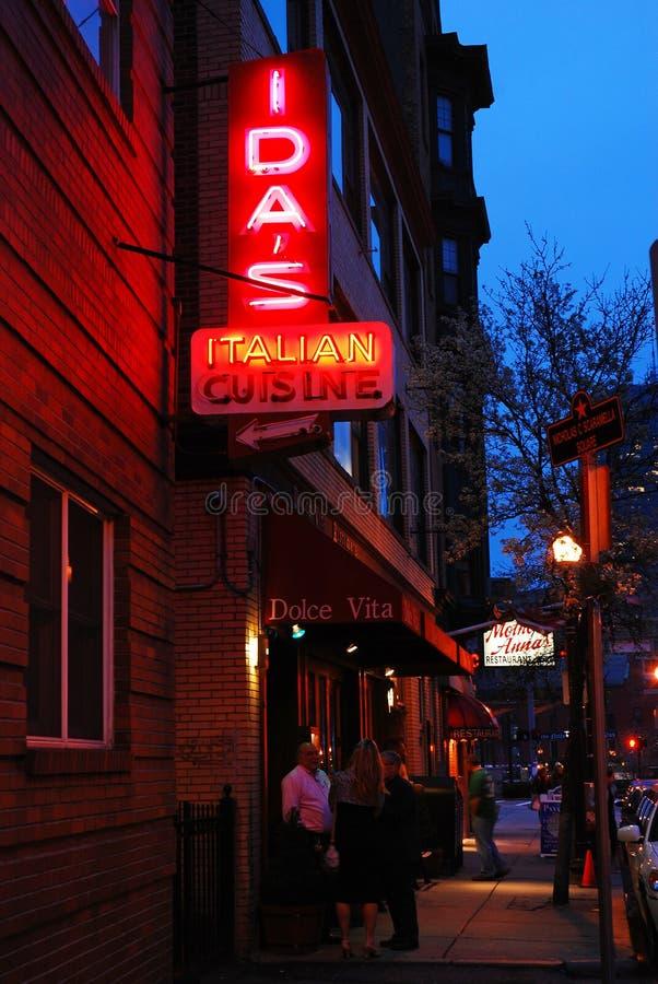North End di Boston immagine stock