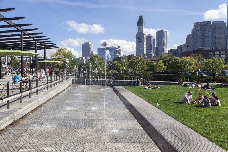 North End-Park Boston Massachusetts lizenzfreie stockfotografie