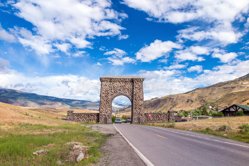 North Entrance to Yellowstone National Park stock photography