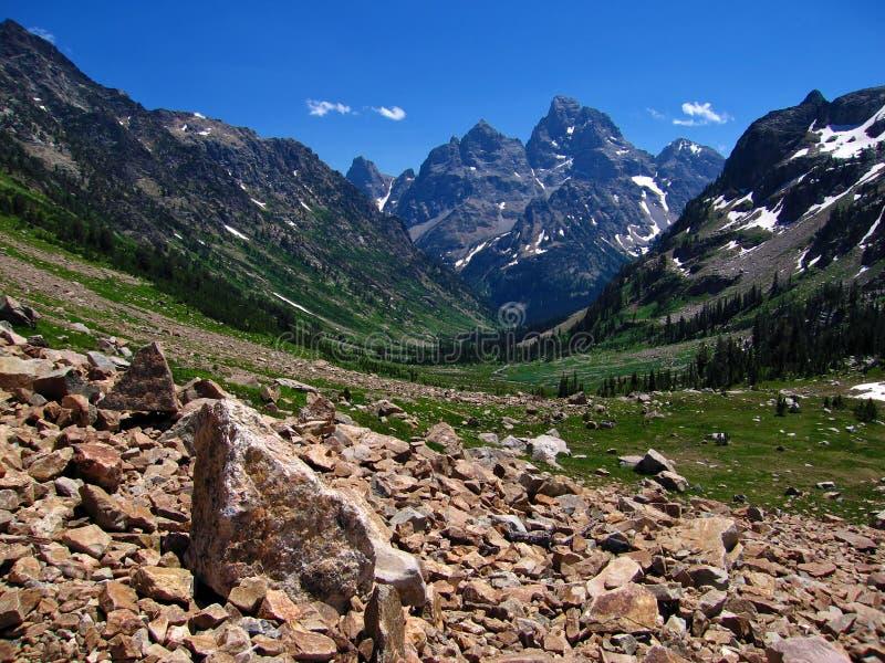 North Fork Cascade Canyon stock photo