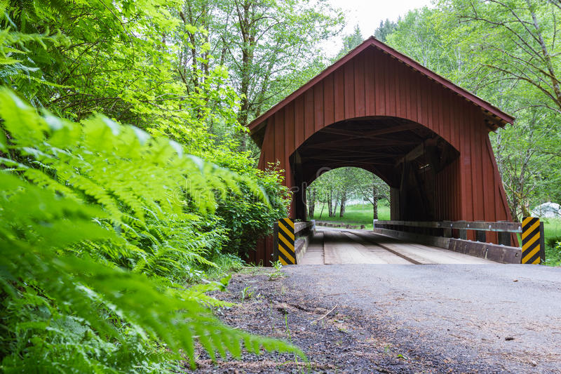 North Fork Yachats bridge stock photography