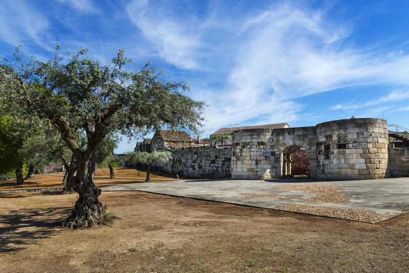 The North Gate to the historic village of Idanha a Velha royalty free stock photography