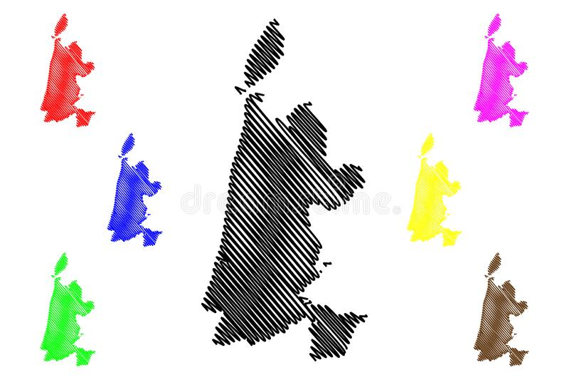 North Holland province Kingdom of the Netherlands, Holland map vector illustration, scribble sketch North Holland map.  stock illustration