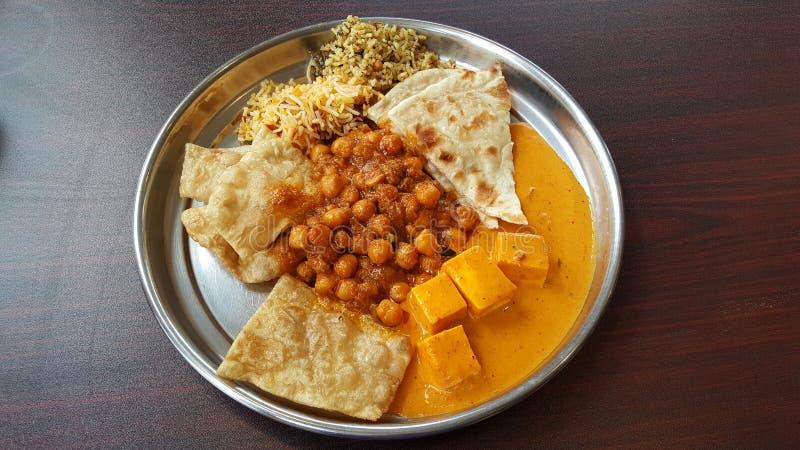 North Indian buffet food stock photos