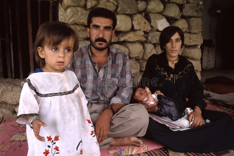 1993 North Iraq - Kurdistan. Family at Sulaymaniyya stock photos