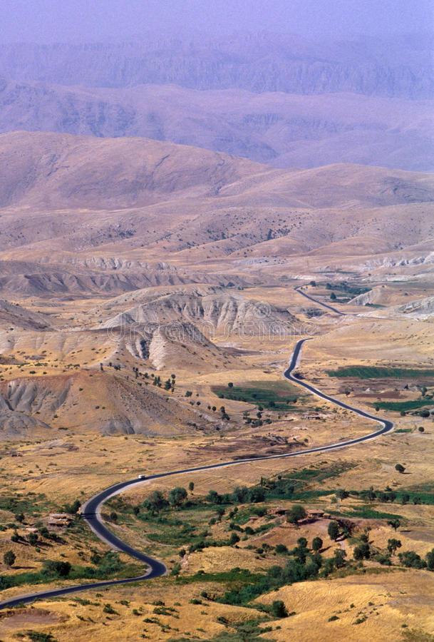 1993 North Iraq - Kurdistan. Landscape near the iranian border royalty free stock photo