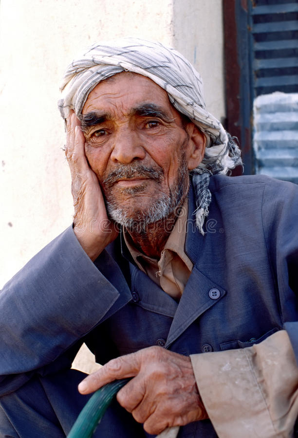 1993 North Iraq - Kurdistan. Man porrtrait at Arbil royalty free stock photography