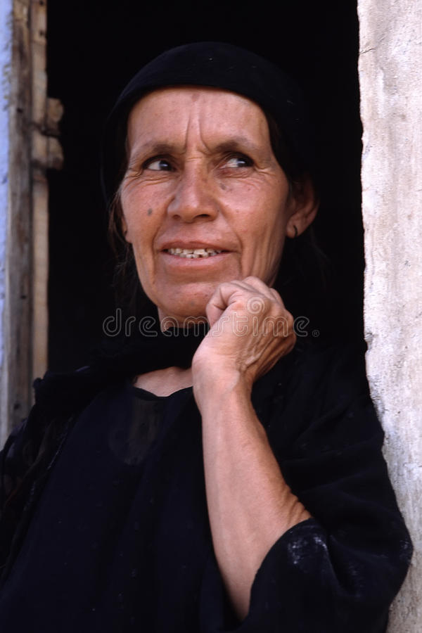 1993 North Iraq - Kurdistan. Woman porrtrait at Arbil stock image
