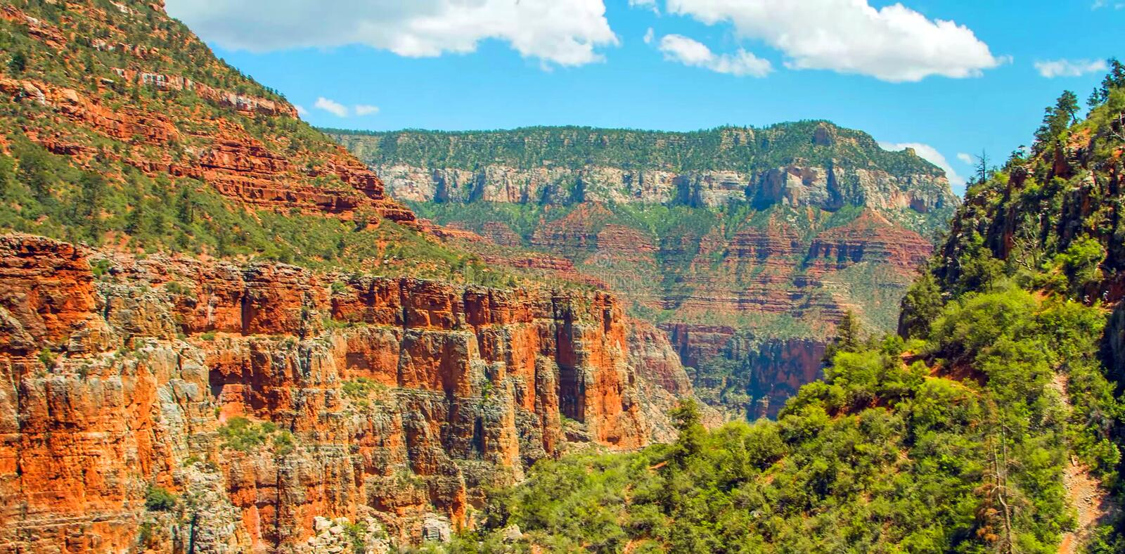 North Kaibab Trail in Grand Canyon National Park, Arizona, United States of America royalty free stock image