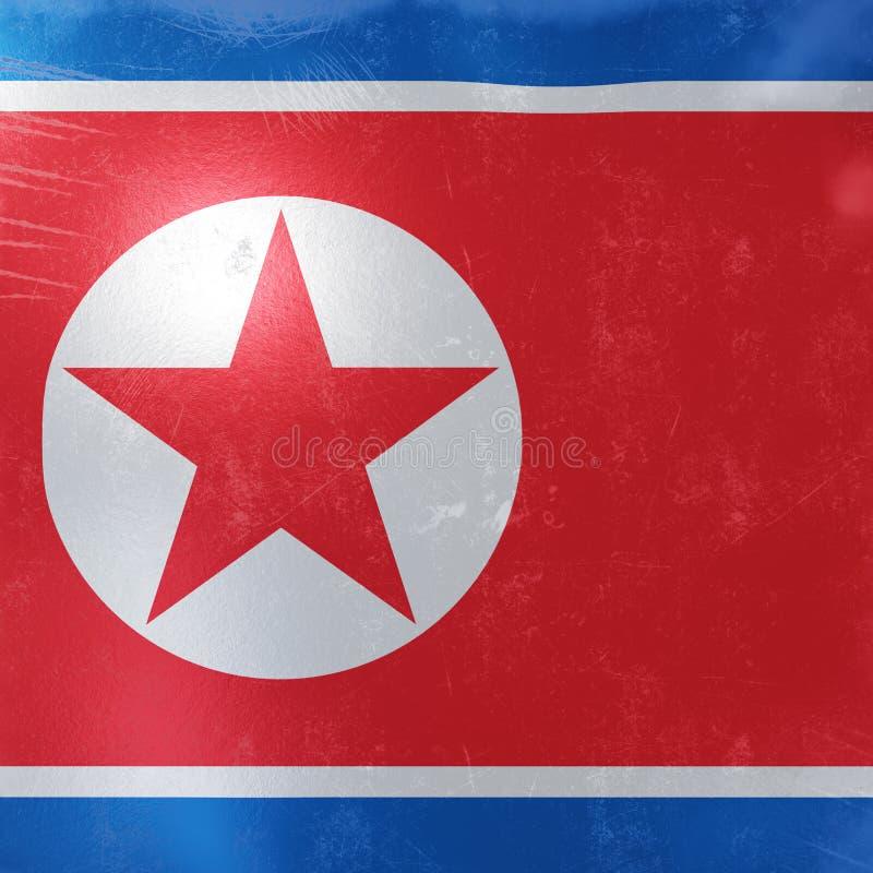 North Korea flag icon stock illustration