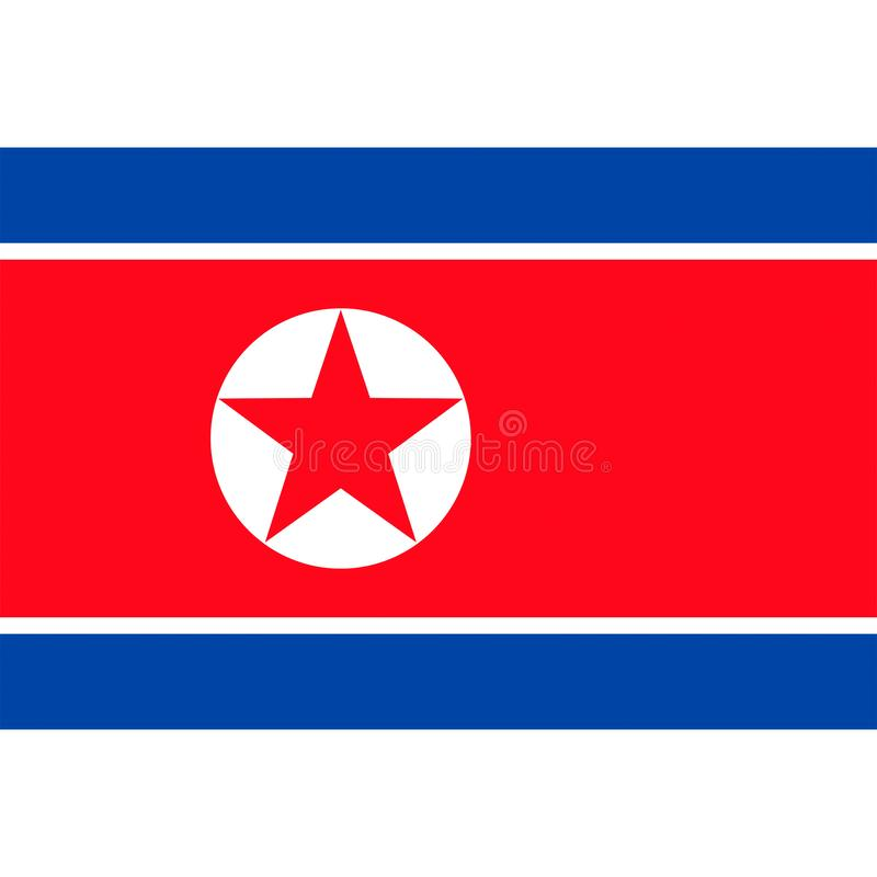 North korea flag vector isolated vector illustration