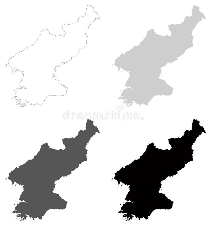North Korea map - Democratic People`s Republic of Korea. Vector file of North Korea map - Democratic People`s Republic of Korea, is a country in East Asia vector illustration