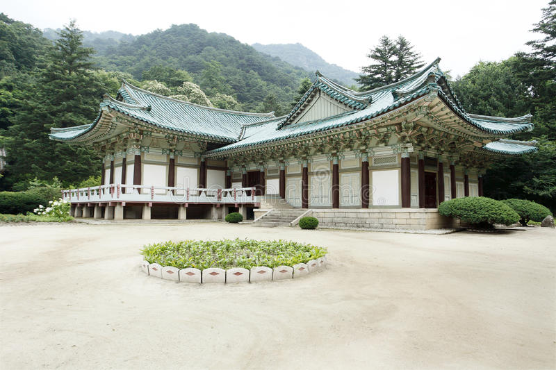 North Korea's traditional architecture royalty free stock photography