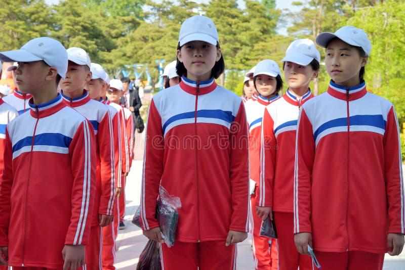 North Korea, Songdowon International Children's Camp stock photos