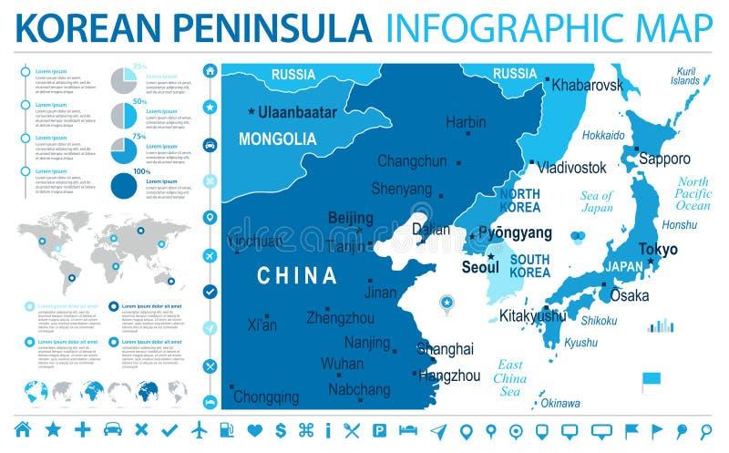 North korea south korea japan china russia mongolia map info download north korea south korea japan china russia mongolia map info graphic vector illustration stock gumiabroncs Gallery