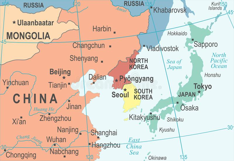 North korea south korea japan china russia mongolia map vector download north korea south korea japan china russia mongolia map vector illustration stock illustration gumiabroncs Image collections