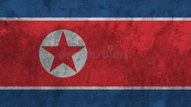North Korean flag painted on the wall. royalty free stock photography
