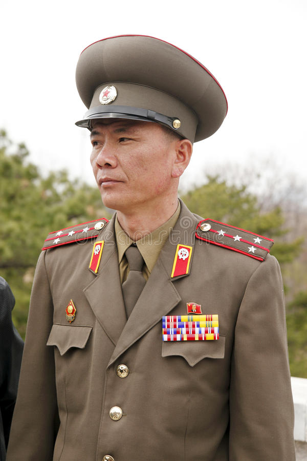 North Korean military officer royalty free stock photo