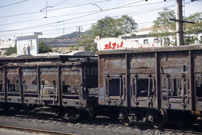 North Korean Rail Transport Editorial Stock Image
