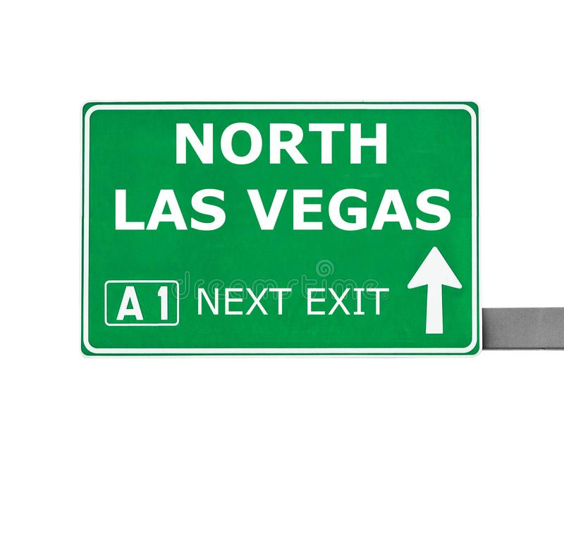 NORTH LAS VEGAS road sign isolated on white stock photography