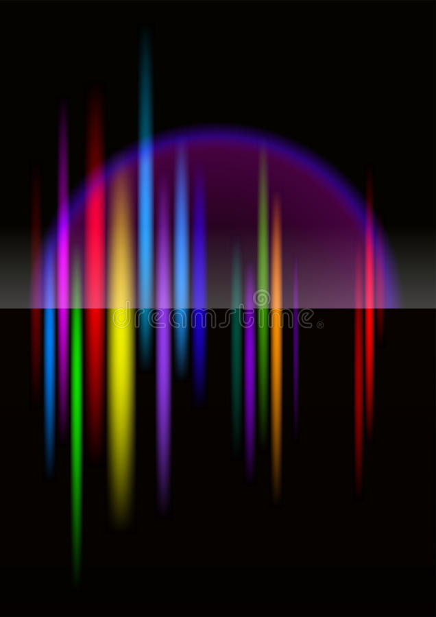 North-light Abstract Bright Colorful Background Stock Photos