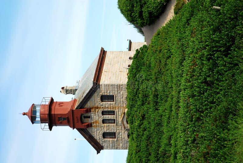 North Light, Block Island, RI. Vertical image of the famous North Light, Block Island, Rhode Island, USA stock photo