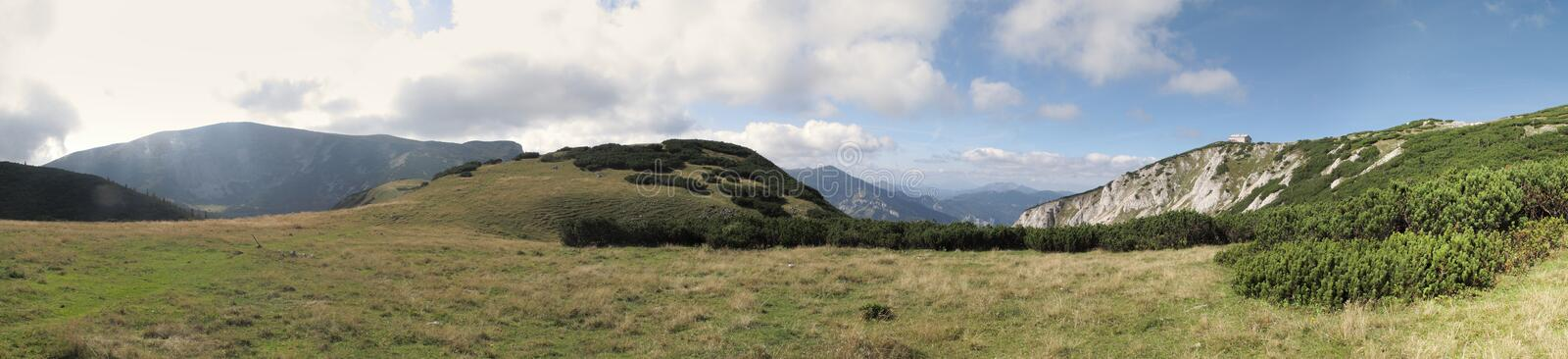 North look to Heukuppe and Habsburg mountain hut royalty free stock images