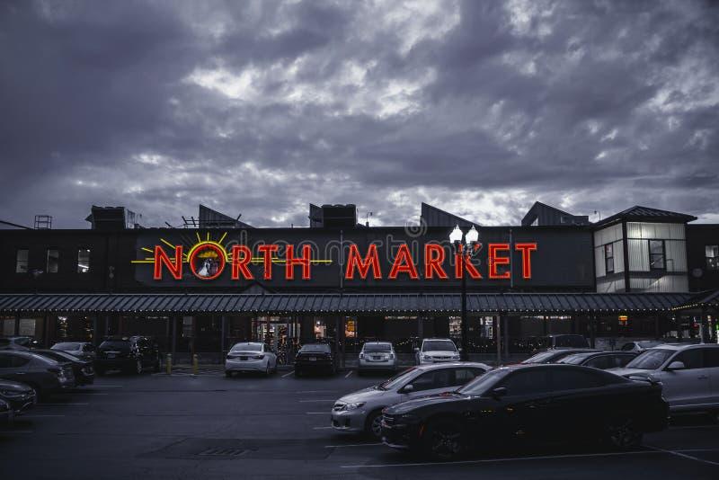 North Market Signage Building Under Gray Sky Free Public Domain Cc0 Image