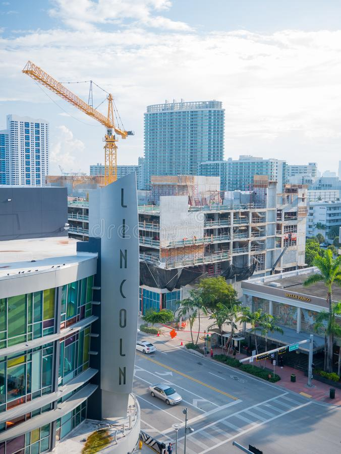 North Miami, Florida,USA. August 2019: Street view on a Miami street in regular weekday.  royalty free stock photo