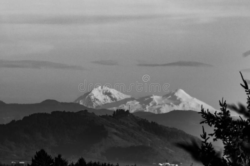 The North and Middle Sister Mountains Three Sisters in Sisters Oregon royalty free stock photography