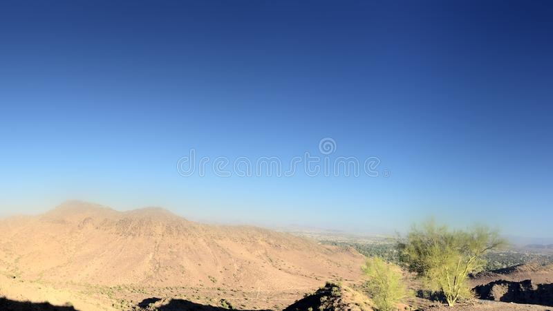 North Mountain Park, Phoenix, AZ. North Phoenix side as seen from North Mountain Park, Arizona. Copy Space royalty free stock photo