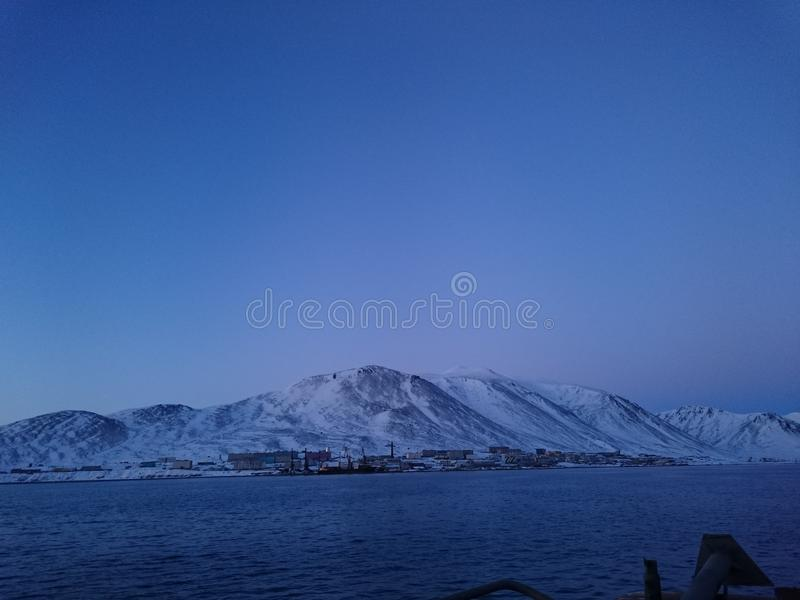 north Overzees Rossiya ostrov, Wrangell royalty-vrije stock foto's