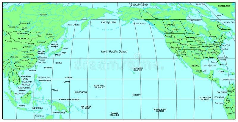 North Pacific Ocean royalty free illustration