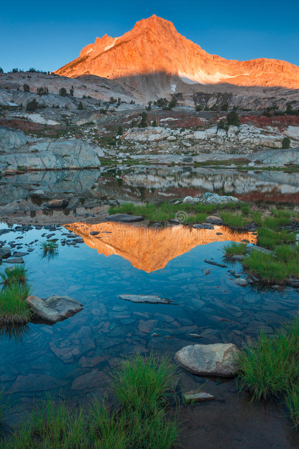 North Peak Reflection. Hoover wilderness is near the Yosemite National Park in California royalty free stock images