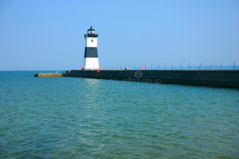 North Pier Lighthouse royalty free stock photos