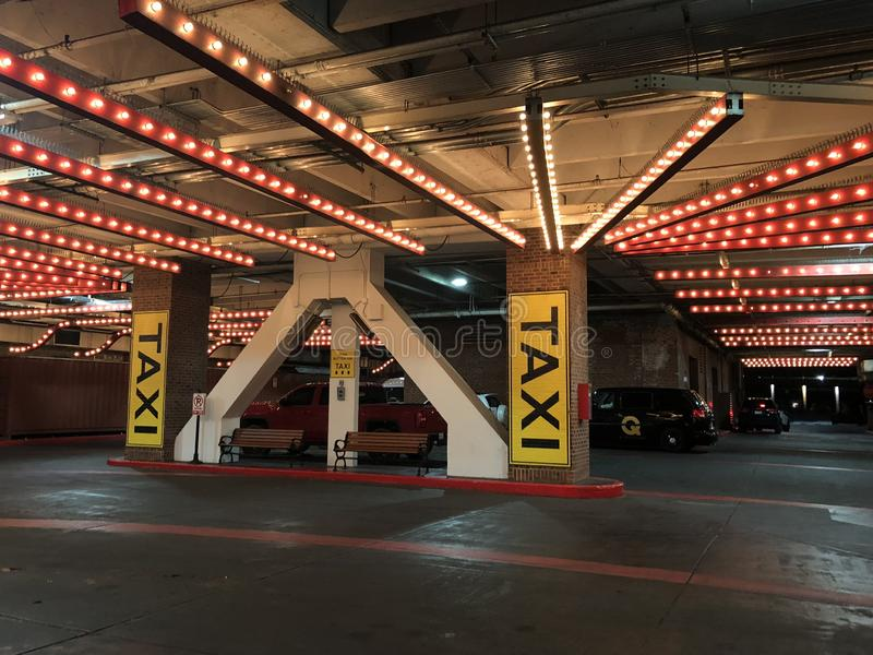 North Pier Taxi Stand in Chicago royalty free stock photo