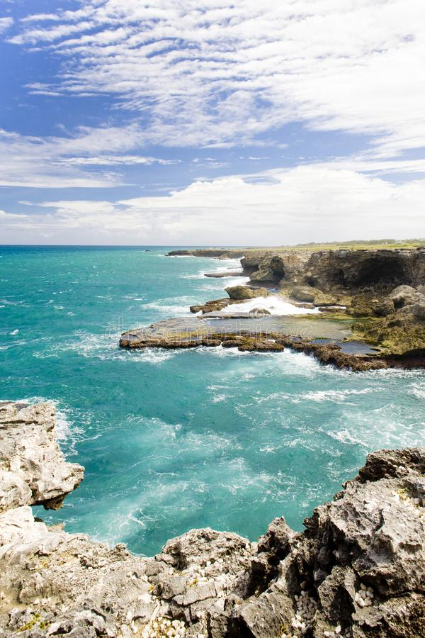 North Point, Barbados, Caribbean. Outdoor, outdoors, outside, exterior, exteriors, america, central, greater, antilles, lesser, west, indies, windward, islands stock image