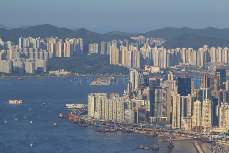 North Point Hong Kong 28 Juni 2014 arkivfoto