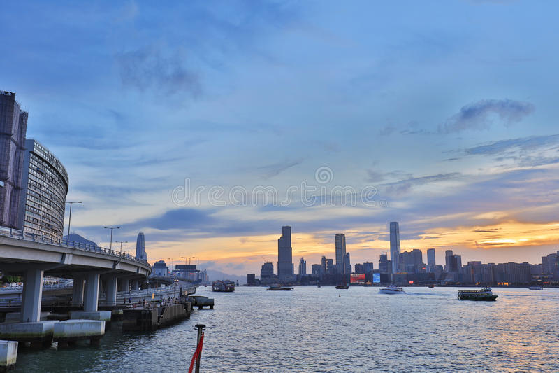 north point pier view of kowloon side royalty free stock photography
