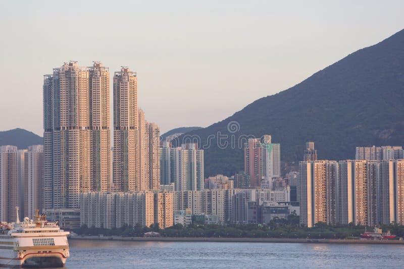 North Point, puerto de Victoria, HK julio de 2014 fotos de archivo