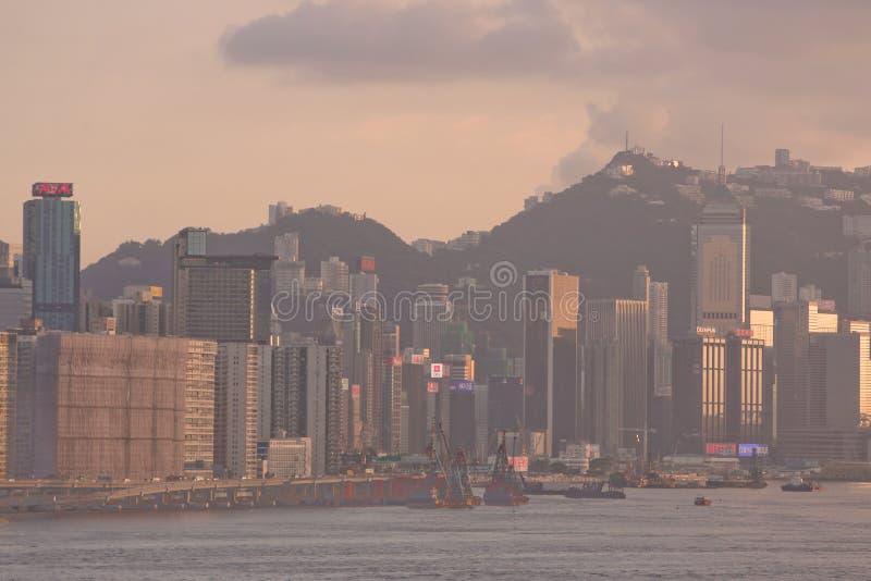 North Point Victoria hamn, HK Juli 2014 fotografering för bildbyråer