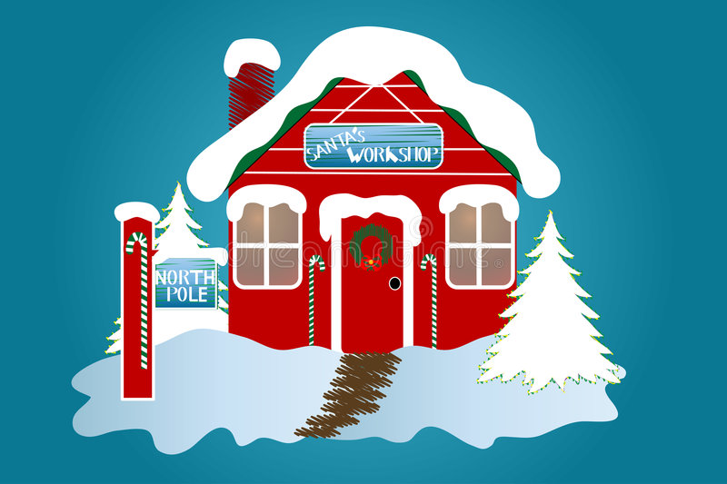Download The North Pole stock illustration. Illustration of decoration - 1344525