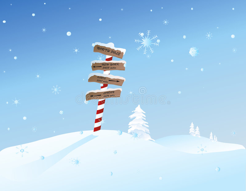 North Pole vector illustration