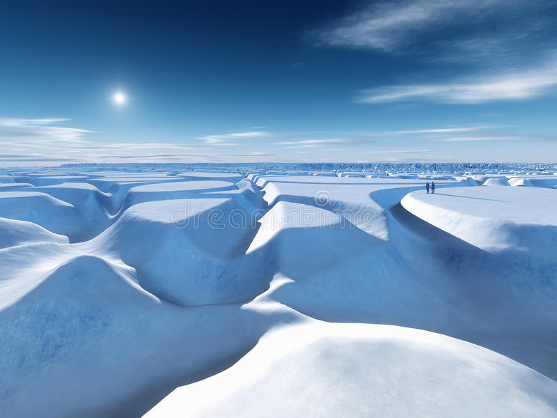 Download North pole stock illustration. Image of frozen, panoramic - 24353529