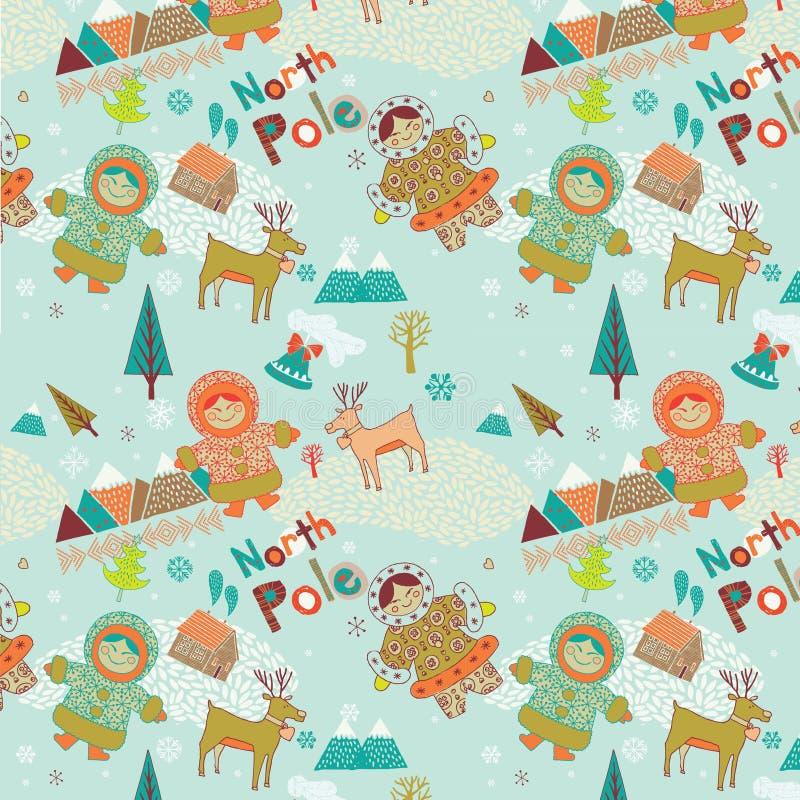 North Pole seamless pattern