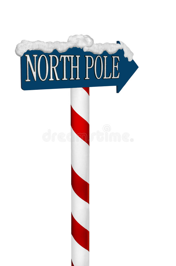 Free North Pole Sign Royalty Free Stock Images - 3038669
